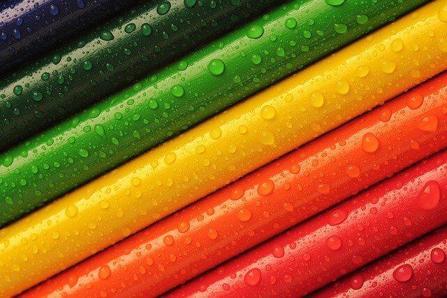 Regenbogen Einhorn Farben