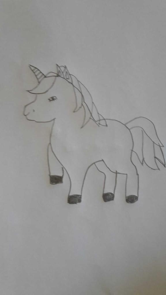 Einhorn Horn zeichnen