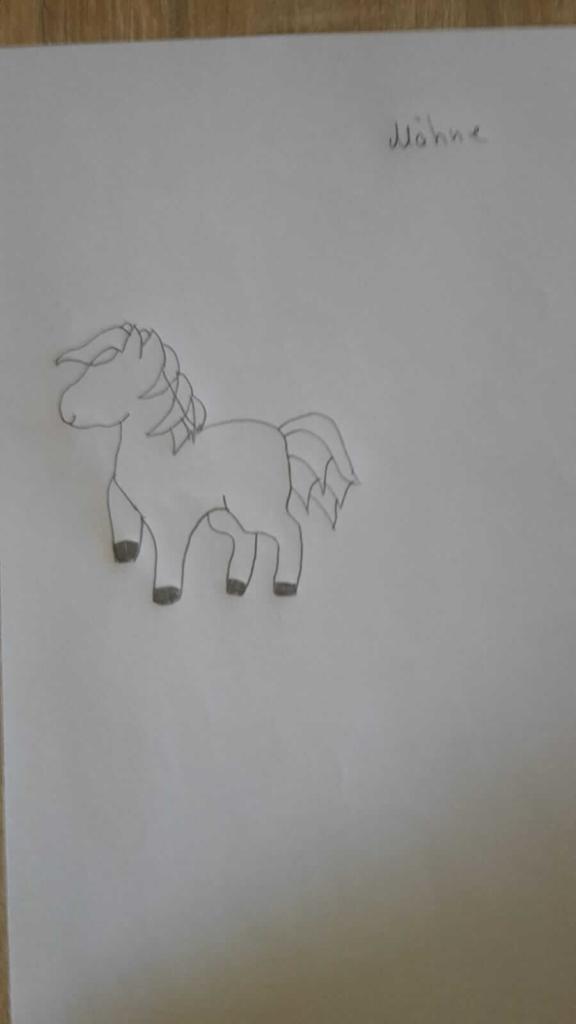 Einhorn Maehne zeichnen