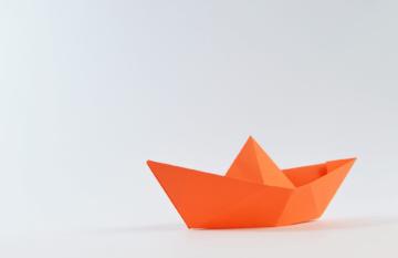 Einhorn Origami Hintergrund