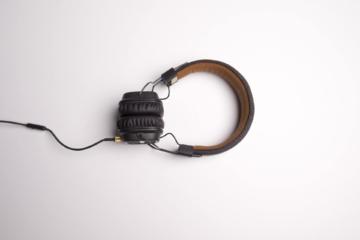 einhorn kopfhörer hintergrund