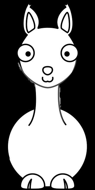 Lama Clipart gluecklich