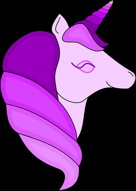 Pinkes Einhorn Kopf