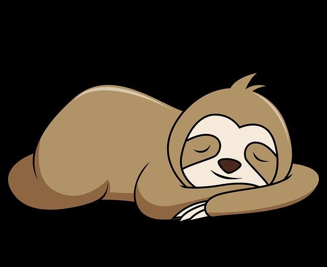 Faultier Kuscheltier schlafen